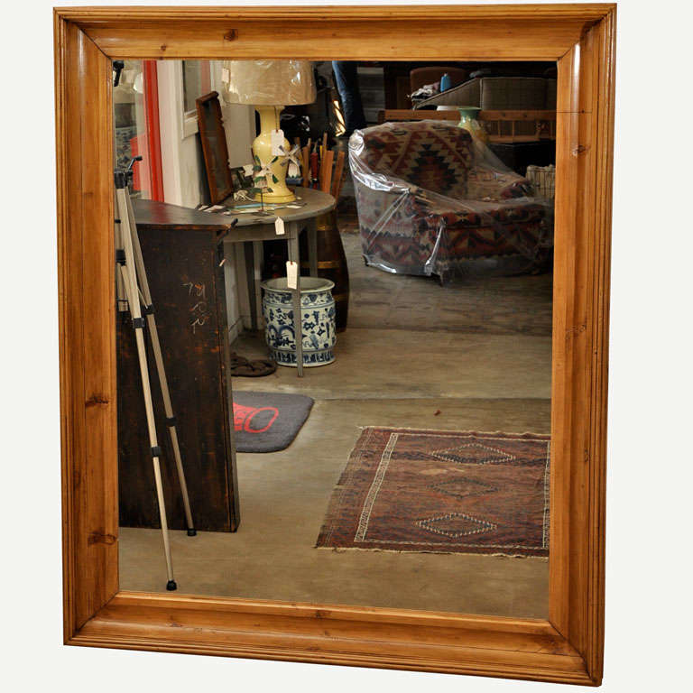 very large mirror in pine frame 1