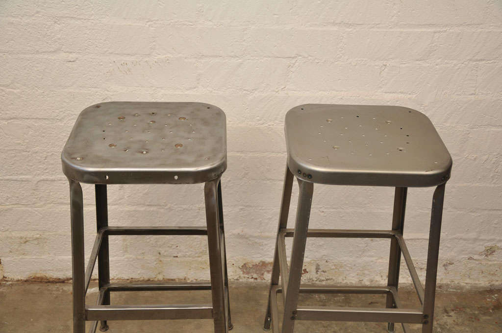 tall metal stool by lyon of aurora at 1stdibs. Black Bedroom Furniture Sets. Home Design Ideas