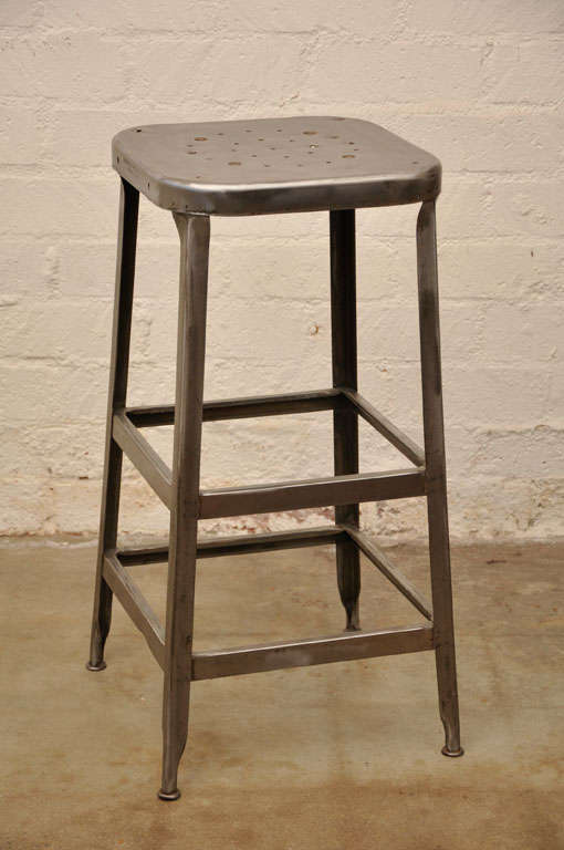 Tall Metal Stool By Lyon Of Aurora At 1stdibs