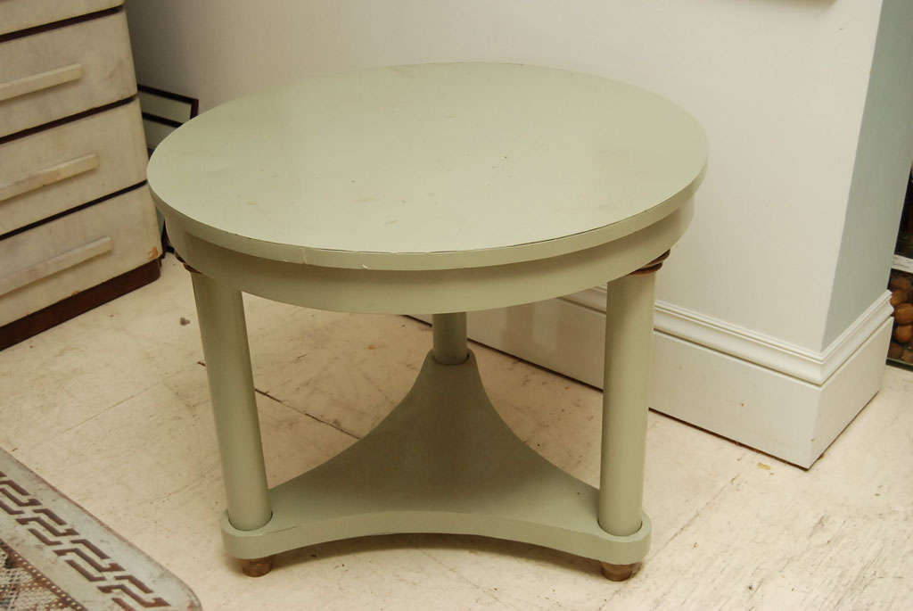 Classical Three Column Painted Metal Table For Sale At 1stdibs