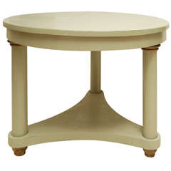Classical Three Column Painted Metal Table