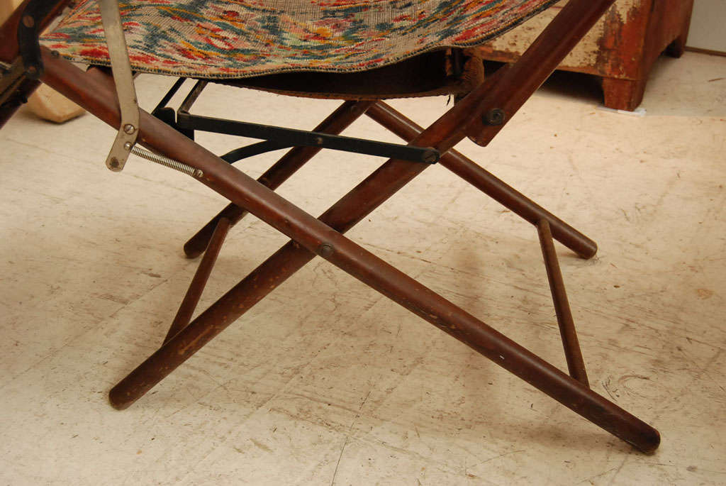 Victorian Reclining Folding Carpet Chair At 1stdibs