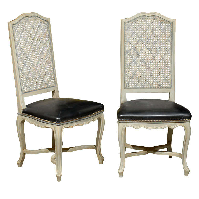 Set Of Six Cane Chairs From Romeo Paris At 1stdibs
