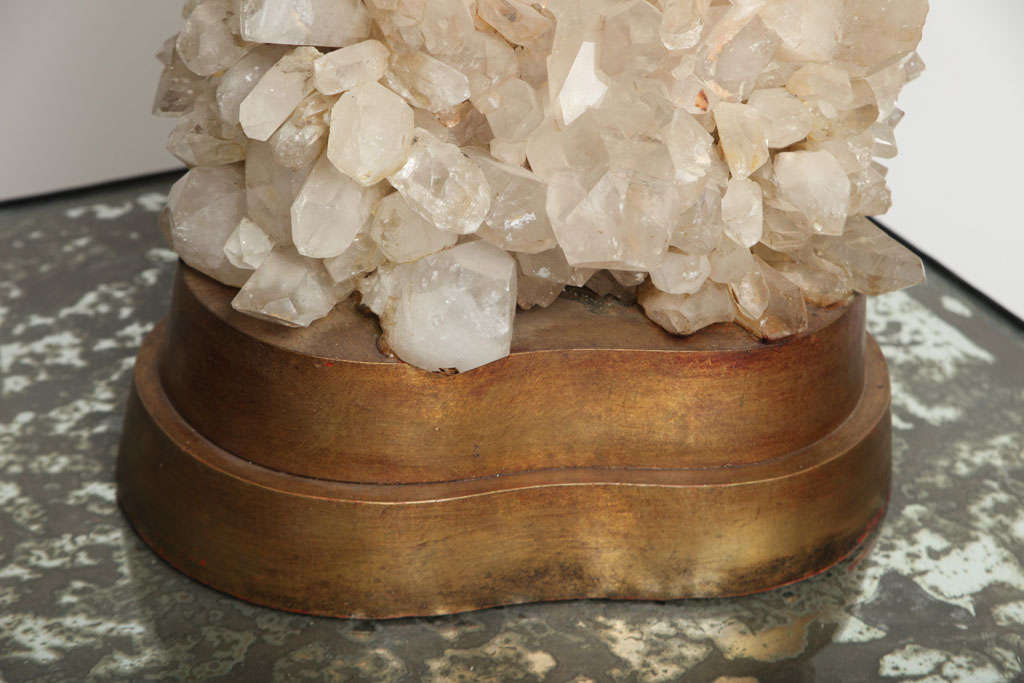 Pair Quartz Lamps by Caroll Stupell For Sale 1