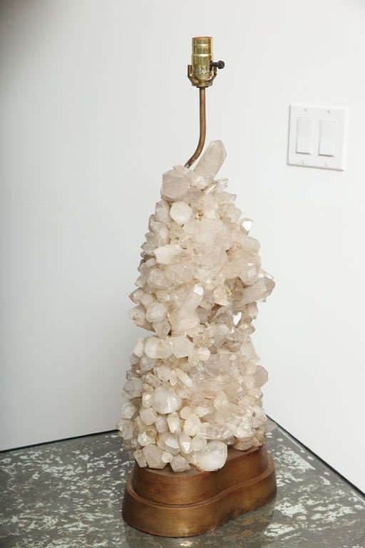 Pair Quartz Lamps by Caroll Stupell For Sale 2