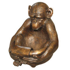 Old Asian bronze monkey