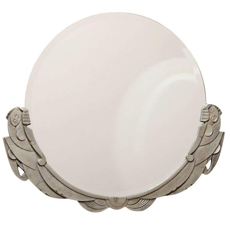 Art Deco Round Mirror At 1stdibs