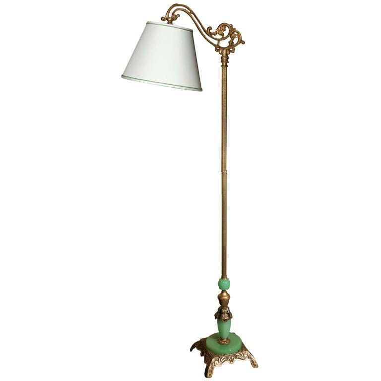 Floor lamp at 1stdibs for Depression glass floor lamp