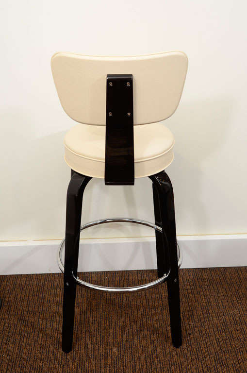 Pair Of Thonet Art Deco Bar Stools At 1stdibs