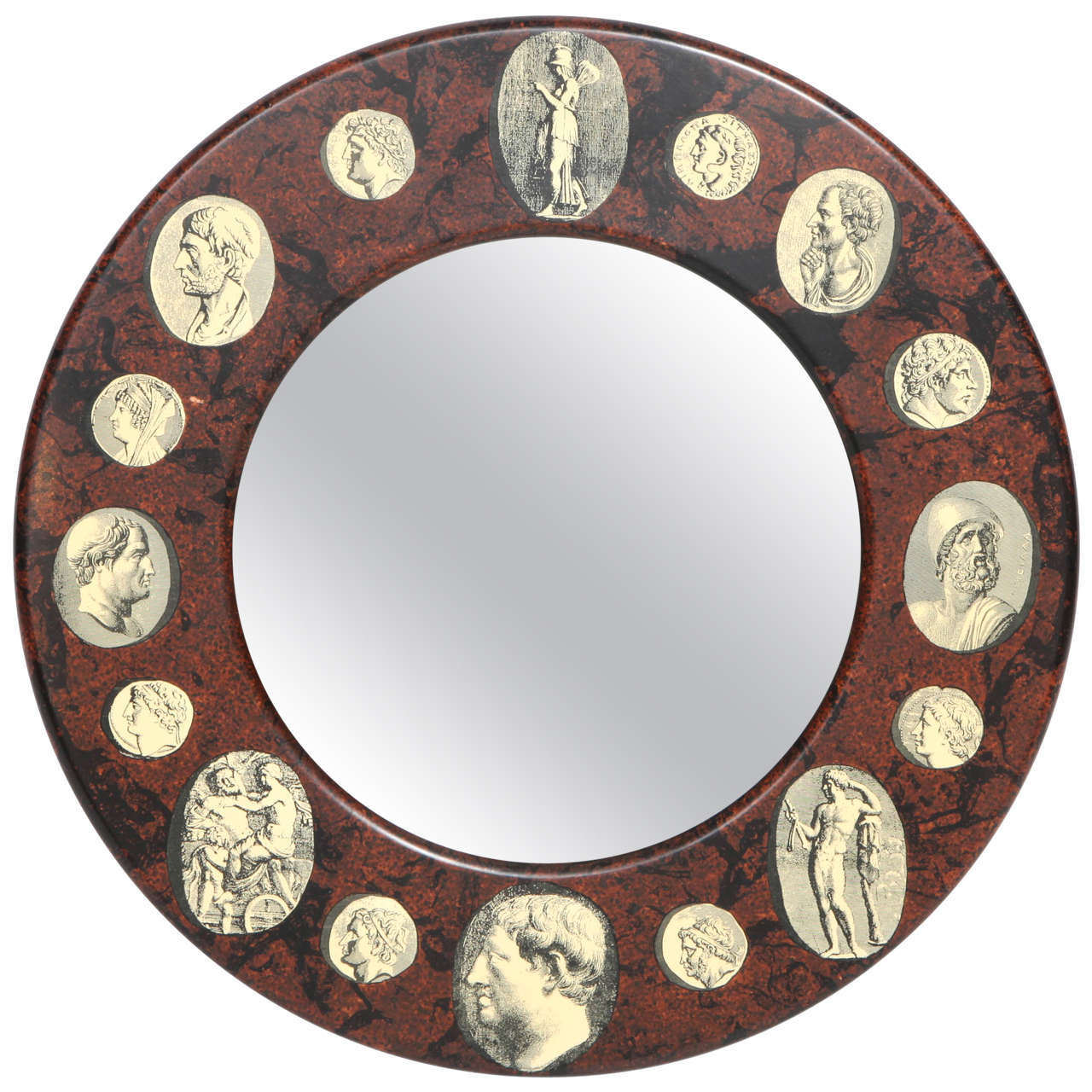 Rare mirror designed by Piero Fornasetti