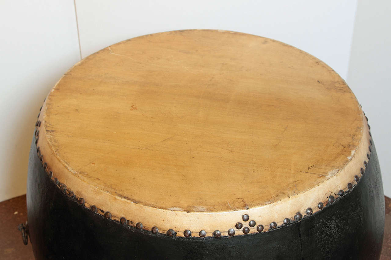 Chinese Ceremonial Black Lacquer Drum At 1stdibs