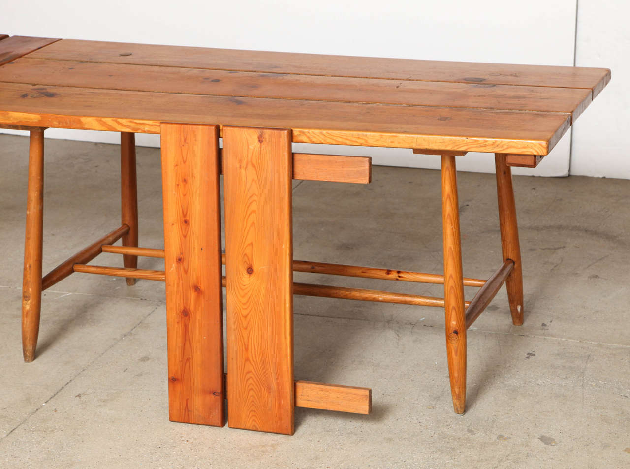 Mid-20th Century Charlotte Perriand Table and Six Chairs For Sale