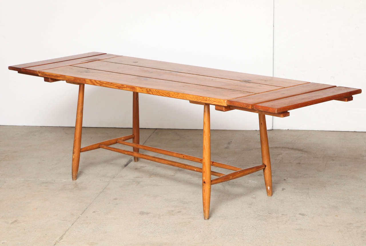 Charlotte Perriand Table and Six Chairs For Sale 2