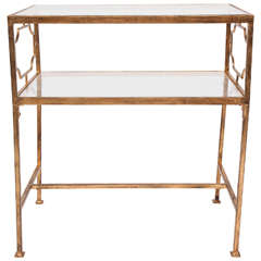 French Gilt Iron Side Table in the Style of Maison Jansen