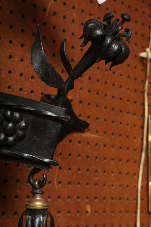 Pair of Wrought Iron Lorimer Sconces For Sale 3