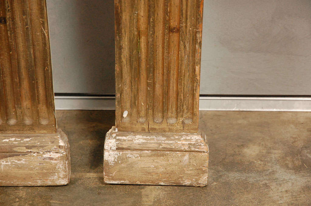 Decorative pr of wall half columns at 1stdibs for House columns prices