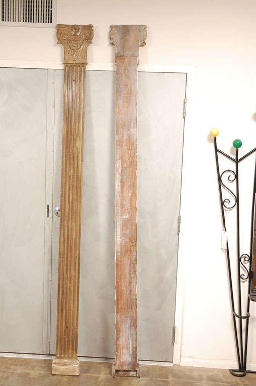 Decorative Pr Of Wall Half Columns At 1stdibs