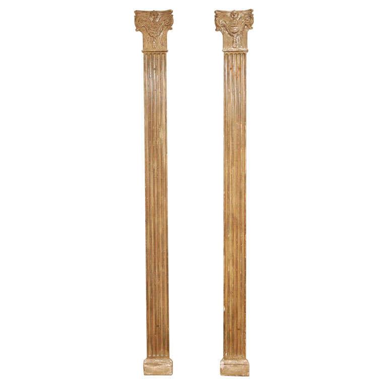 Decorative Pr Of Wall Half Columns For