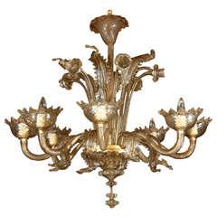 Large Venetian 8 Light Chandelier