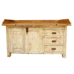 French bakery store counter in original paint