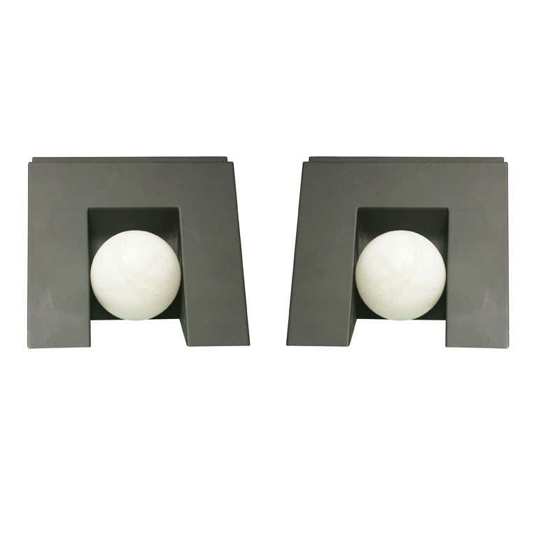 Pair Of Post Modern Sconces For Sale