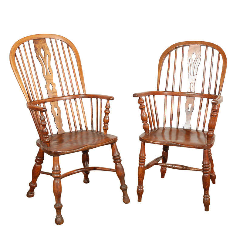 English Windsor Arm Chairs