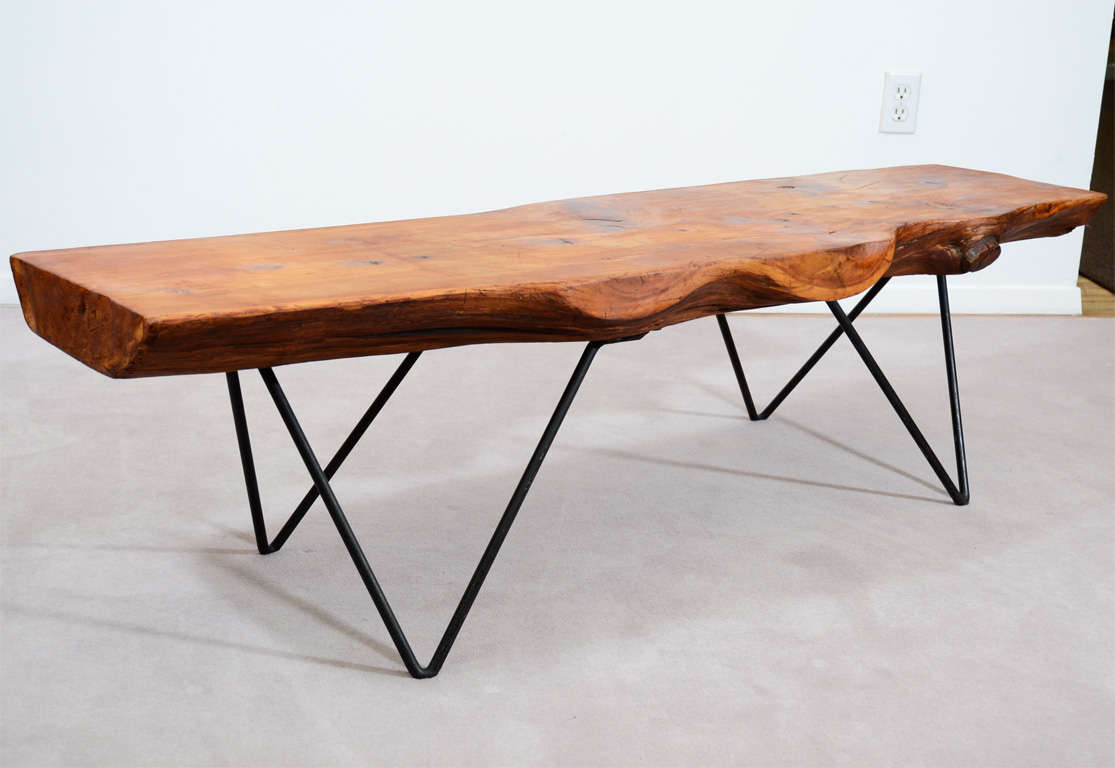 Hoisington United States  City new picture : ... Plank Wood and Wrought Iron Table by Bill Hoisington at 1stdibs