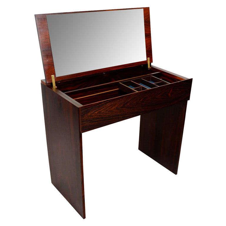 mid century danish modern vanity and stool at 1stdibs