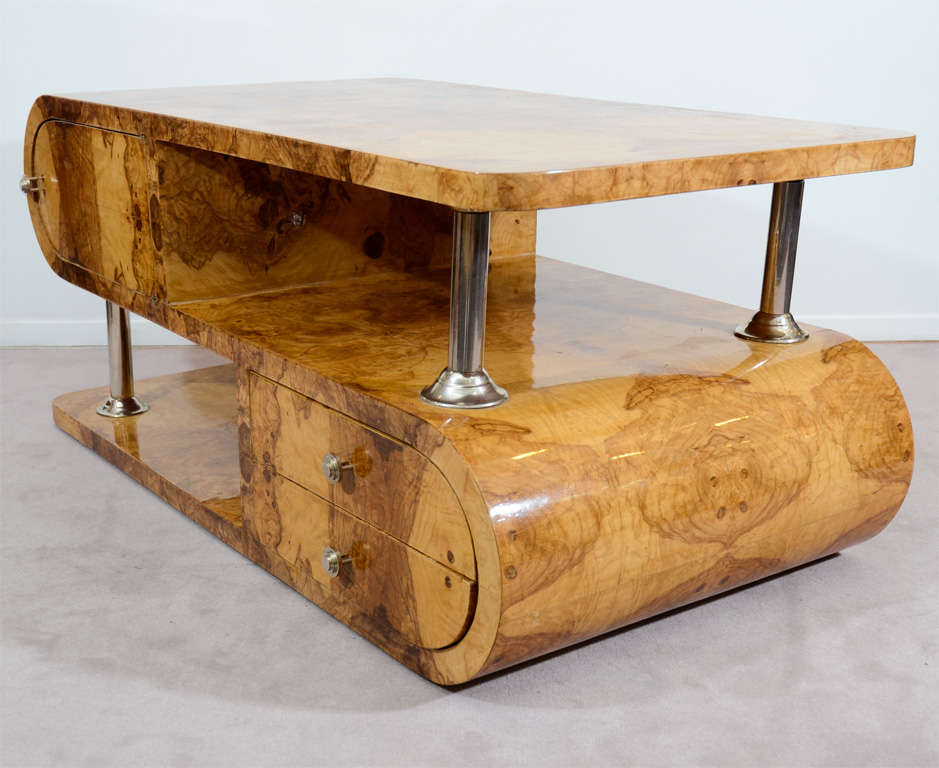 1930 39 S Olivewood Art Deco Coffee Table At 1stdibs