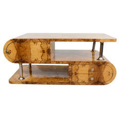 1930's Olivewood Art Deco Coffee Table