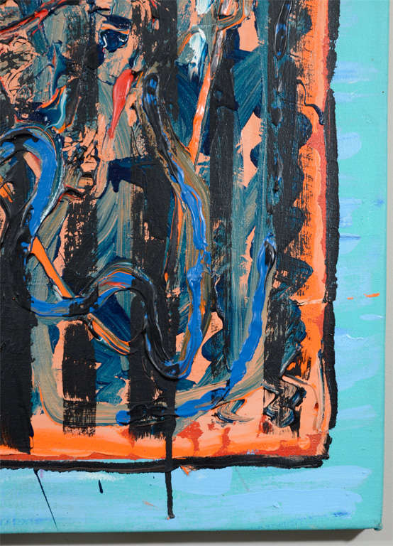 20th Century Abstract Oil on Canvas by Noted New York Artist Jamie Dalglish For Sale