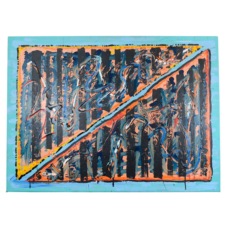 Abstract Oil on Canvas by Noted New York Artist Jamie Dalglish For Sale