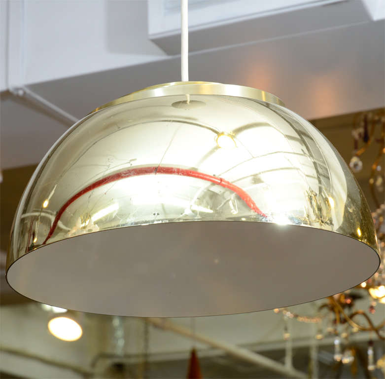 Mid Century Lightolier Half-Globe Pendant Light For Sale ...