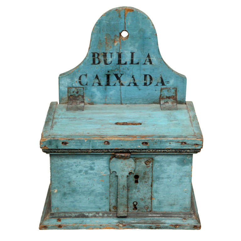 18th C Catalan Money Box For Sale