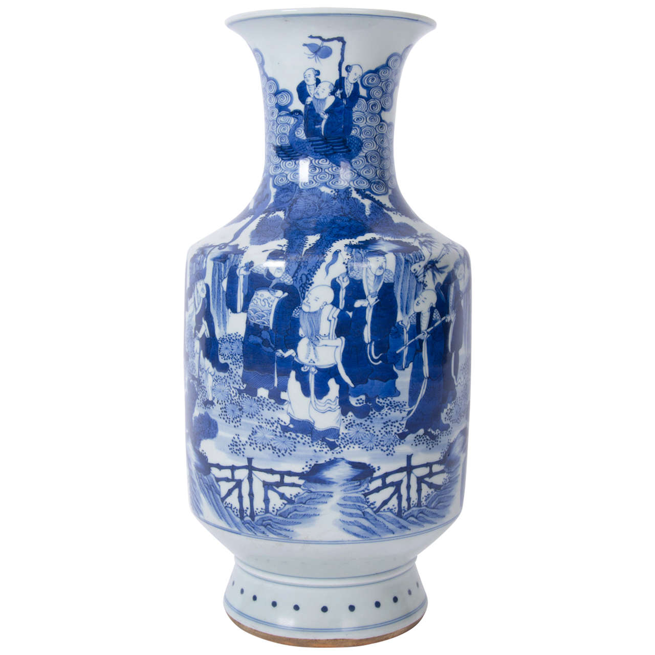 Early 19th c large chinese vase blue and white porcelain qing early 19th c large chinese vase blue and white porcelain qing floridaeventfo Images
