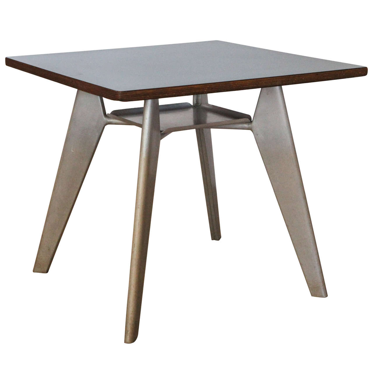 Jean prouve gueridon cafeteria table france 1950 at 1stdibs - Table basse jean prouve ...