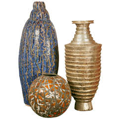 Important Ceramic Vases Collection by French Designer Da Silva