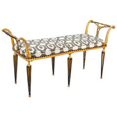 Neoclassical Window Seat Bench by Palladio