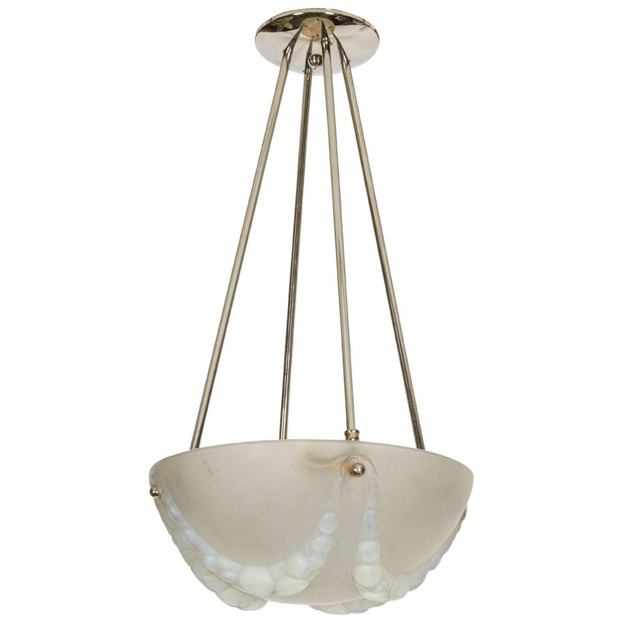 """Rene Lalique """"Villeneuve"""" Chandelier"""