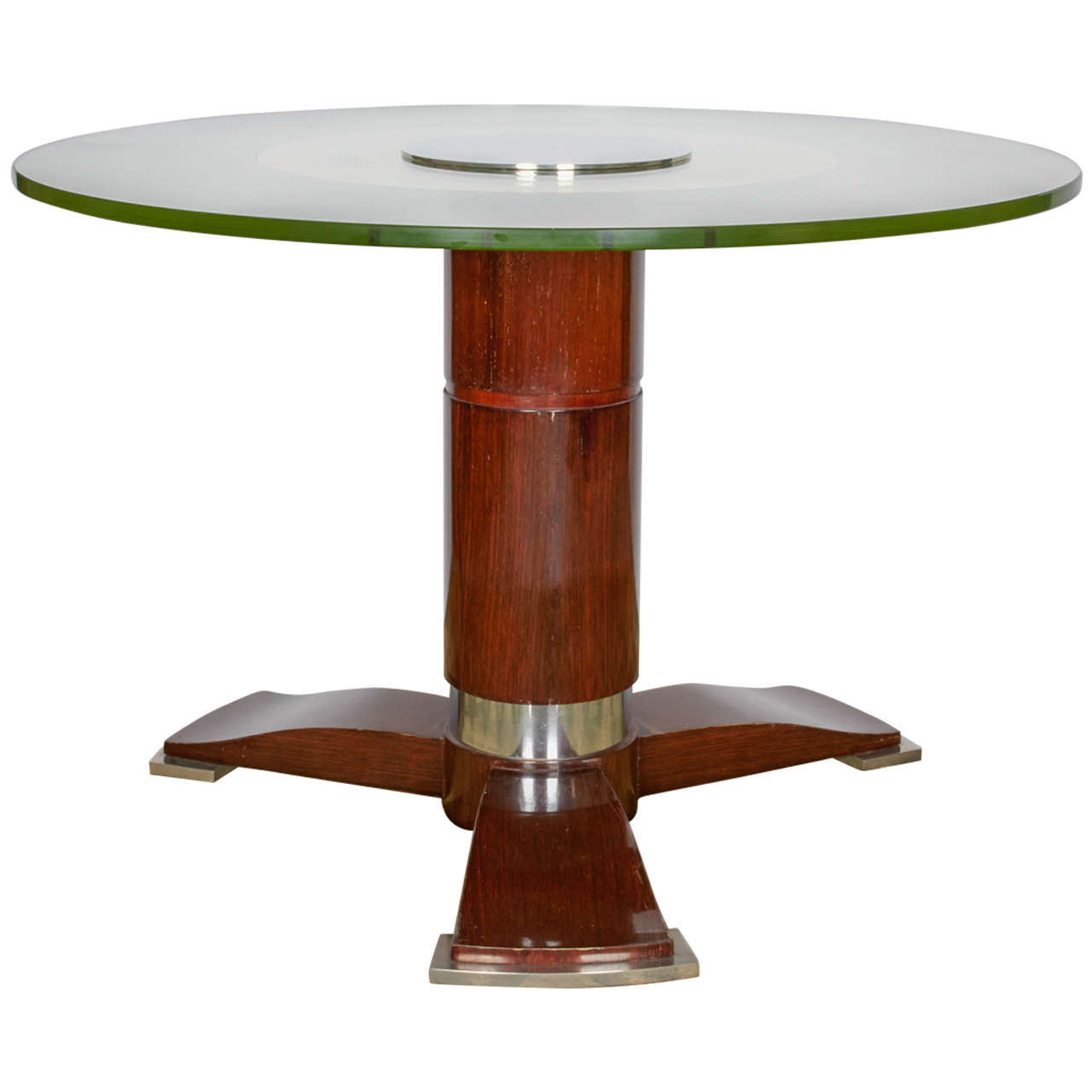 Round Coffee Table Pair: Jules Leleu Low Round Table For Sale At 1stdibs