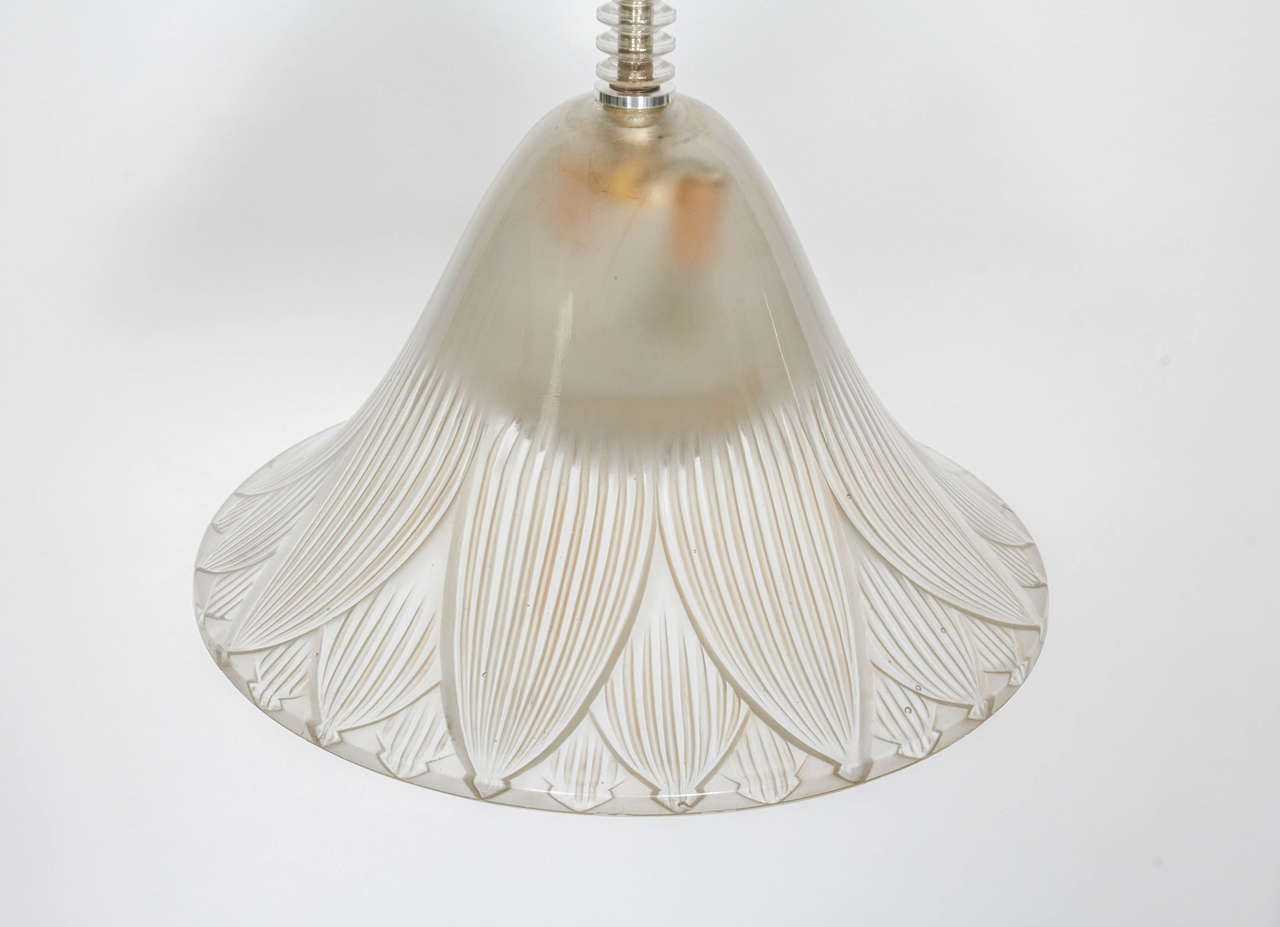French Rene Lalique Chandelier