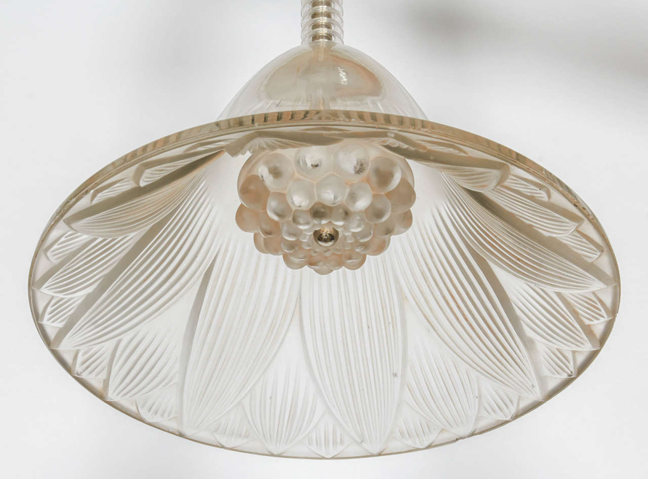 Early 20th Century Rene Lalique Chandelier