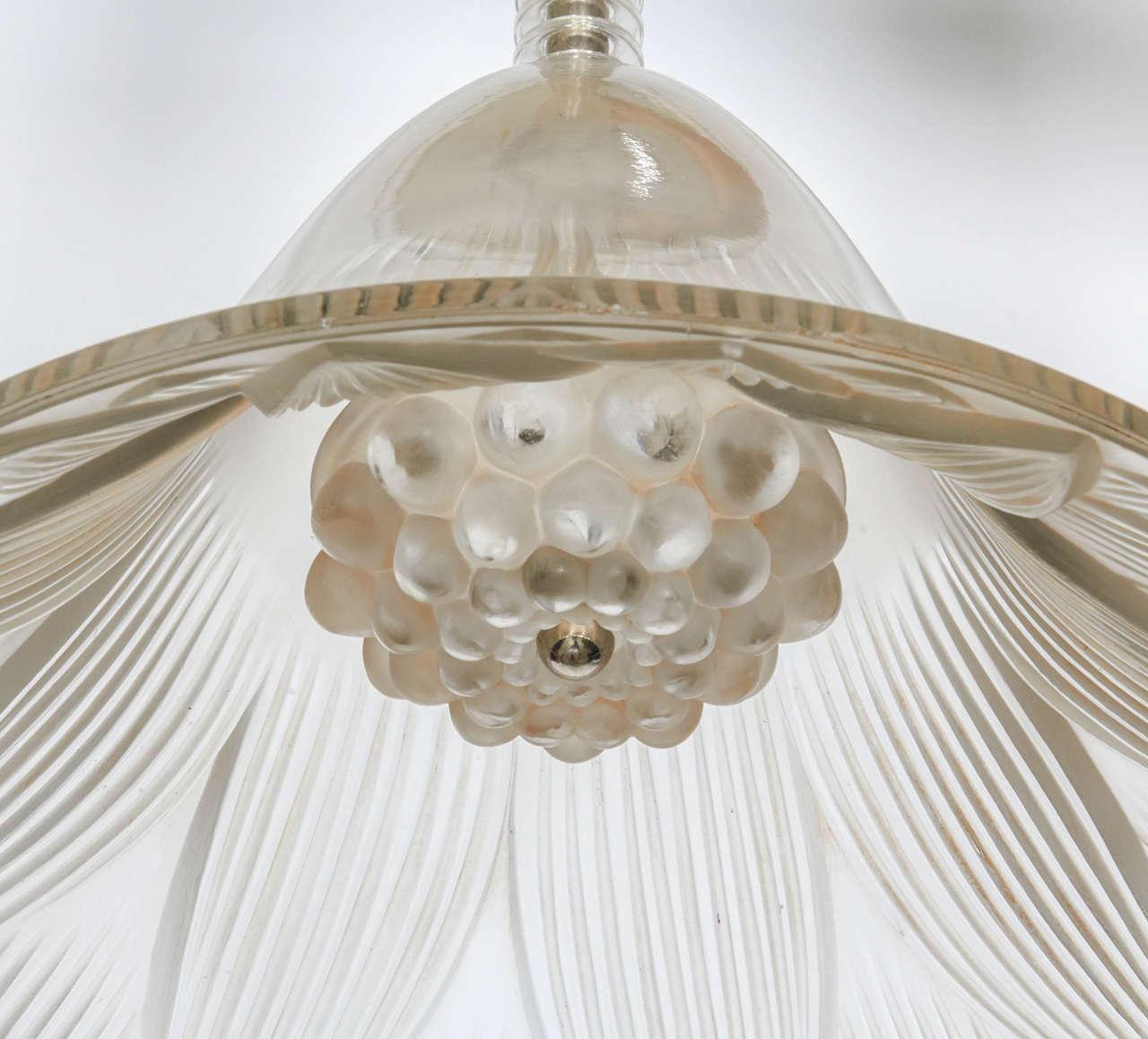 Glass Rene Lalique Chandelier