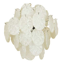 Chandelier with Opaline Oval Shaped Elements