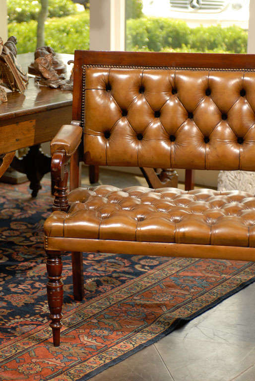 Pair of Leather Upholstered Benches 3