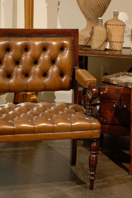 Pair of Leather Upholstered Benches 5