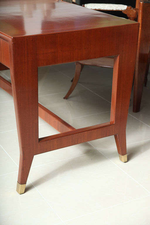 Italian Modern Mahogany Desk/Writing Table, Gio Ponti In Excellent Condition For Sale In Miami, FL