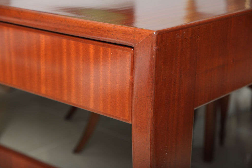 Italian Modern Mahogany Desk/Writing Table, Gio Ponti For Sale 1