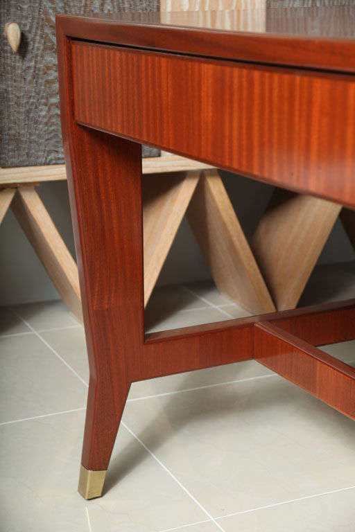 Italian Modern Mahogany Desk/Writing Table, Gio Ponti For Sale 3