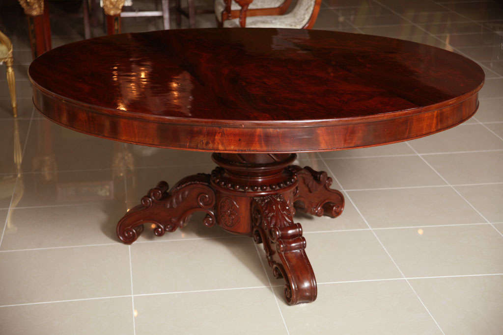 English William IV Mahogany Center/Dining Table For Sale